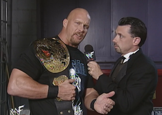 WWE / WWF Summerslam 1998 - WWF Champion Steve Austin talks to Michael Cole
