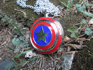 Antique Pocket Watch Captain America Star Shield P497