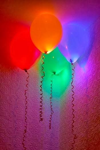 Make Balloons glow.