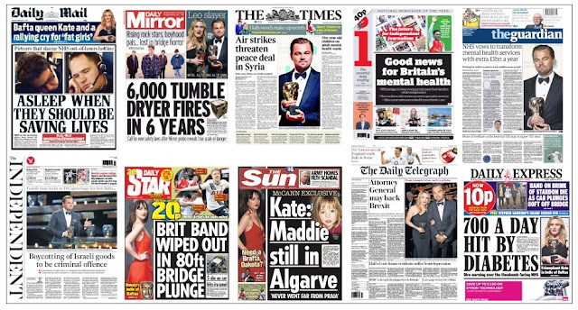 front pages 15-02-16
