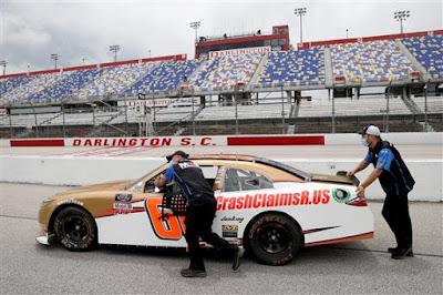 #66 CrashClaimsR.us Toyota, driven by Stephen  Leicht #NASCAR Xfinity Series