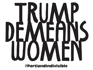 Trump Demeans Women Poster