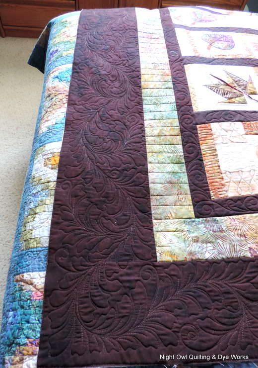 Quilt Patterns For Stonehenge Fabric : Night Owl Quilting & Dye Works: Bev s Leaf Row Quilt