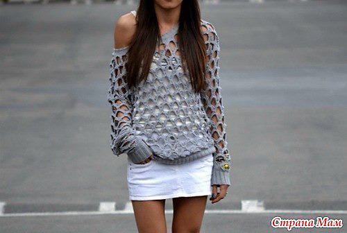 26e48e13ae61c ... Sea Spray Cabled Cardigan  Asymmetrical Cardigan  Renaissance Tunic.  Diamond Net Sweater by Campana Mam