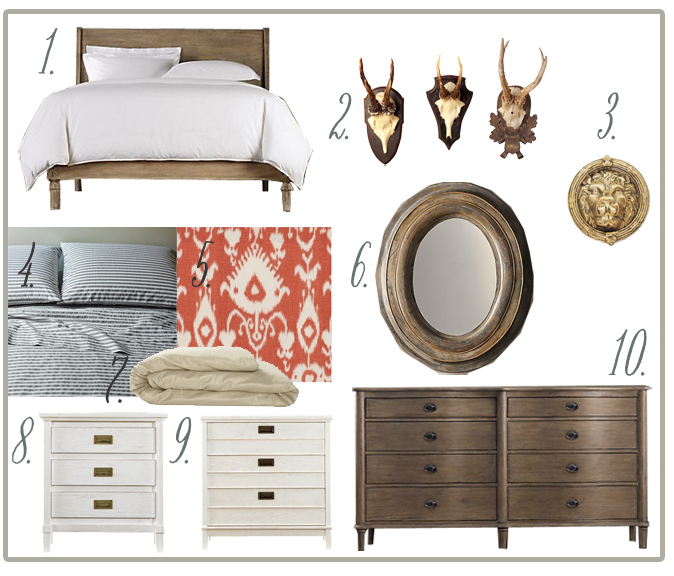 Restoration Hardware Empire Rosette: The Good Stuff: INSPIRATION BOARD: Melrose's Master Bedroom
