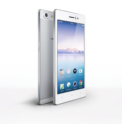 """Oppo R5 Specifications - LAUNCH Announced 2014, October DISPLAY Type AMOLED capacitive touchscreen, 16M colors Size 5.2 inches (~67.5% screen-to-body ratio) Resolution 1080 x 1920 pixels (~423 ppi pixel density) Multitouch Yes Protection Corning Gorilla Glass 3  - Color OS 2.0 BODY Dimensions 148.9 x 74.5 x 4.9 mm (5.86 x 2.93 x 0.19 in) Weight 155 g (5.47 oz) SIM Micro-SIM PLATFORM OS OS Android OS, v4.4.4 (KitKat) CPU Quad-core 1.7 GHz Cortex-A53 & quad-core 1.0 GHz Cortex-A53 Chipset Qualcomm MSM8939 Snapdragon 615 GPU Adreno 405 MEMORY Card slot No Internal 16 GB, 2 GB RAM CAMERA Primary 13 MP, f/2.0, autofocus, LED flash Secondary 5 MP, f/2.5 Features 1/3"""" sensor size, 1.12 µm pixel size, geo-tagging, touch focus, face detection, panorama, HDR Video 1080p@60fps, 720p@120fps NETWORK Technology GSM / HSPA / LTE 2G bands GSM 850 / 900 / 1800 / 1900 3G bands HSDPA 850 / 900 / 1700 / 1900 / 2100 4G bands LTE band 1(2100), 3(1800), 4(1700/2100), 7(2600), 8(900), 17(700), 20(800), 28(700), 40(2300) Speed HSPA, LTE Cat4 150/50 Mbps GPRS Yes EDGE Yes COMMS WLAN Wi-Fi 802.11 a/b/g/n, dual-band, Wi-Fi Direct, hotspot GPS Yes, with A-GPS, GLONASS USB microUSB v2.0, USB Host Radio No Bluetooth v4.0 FEATURES Sensors Accelerometer, proximity, compass Messaging SMS (threaded view), MMS, Email, Push Email Browser HTML5 Java No SOUND Alert types Vibration; MP3, WAV ringtones Loudspeaker Yes 3.5mm jack Yes BATTERY  Non-removable Li-Po 2000 mAh battery Stand-by  Talk time  Music play  MISC Colors Silver, Gold  - Fast battery charging: 75% in 30 min - Active noise cancellation with dedicated mic - MP4/WMV/H.264 player - MP3/WAV/WMA/eAAC+/FLAC player - Document viewer - Photo/video editor - Voice memo/dial/commands"""