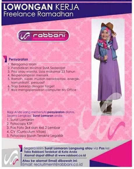 Lowongan Kerja Freelance Rabbani