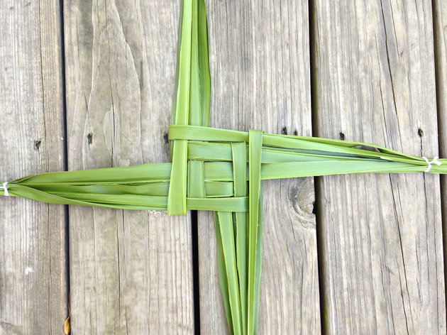 Celebrants often prepare talismans to use during Imbolc ceremonies, including the Brigid's Cross.