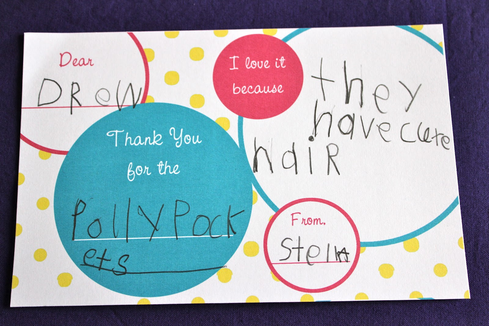 Craft Whatever Kids Thank You Notes