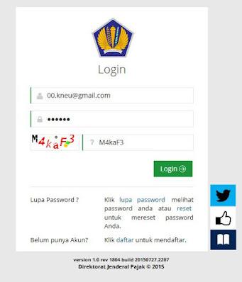 Login Cara Mengisi Formulir NPWP Online