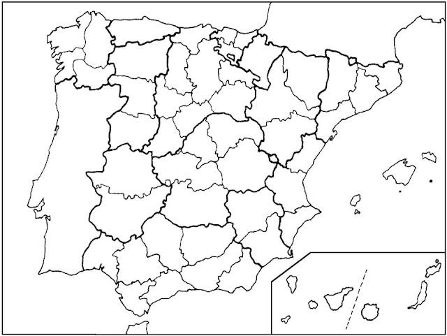 mapa mudo españa