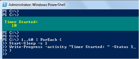 Wait, Sleep or Suspend in PowerShell script