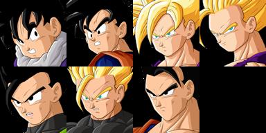 Graficos faciais Dragon Ball 1FGohan