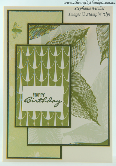 #thecraftythinker #Masculine Card #stampinup  #cardmaking ,Simple Card, Tea Room suite, Stampin' Up Australia Demonstrator, Stephanie Fischer, Sydney NSW