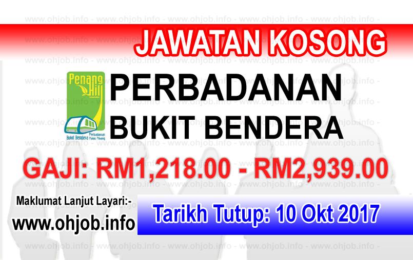 Jawatan Kerja Kosong Perbadanan Bukit Bendera Pulau Pinang logo www.ohjob.info oktober 2017