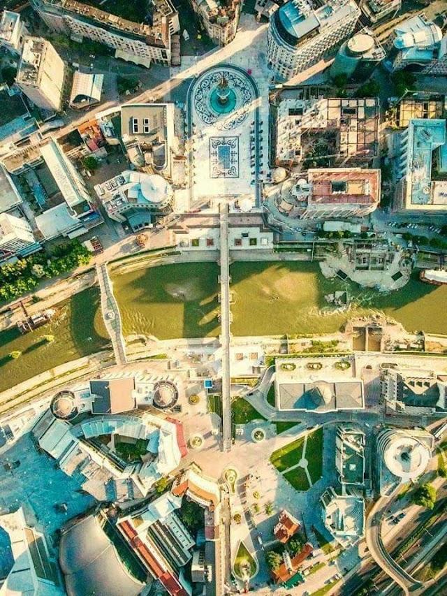 Bild des Tages - Zentrum Skopje aus der Vogelperspektive