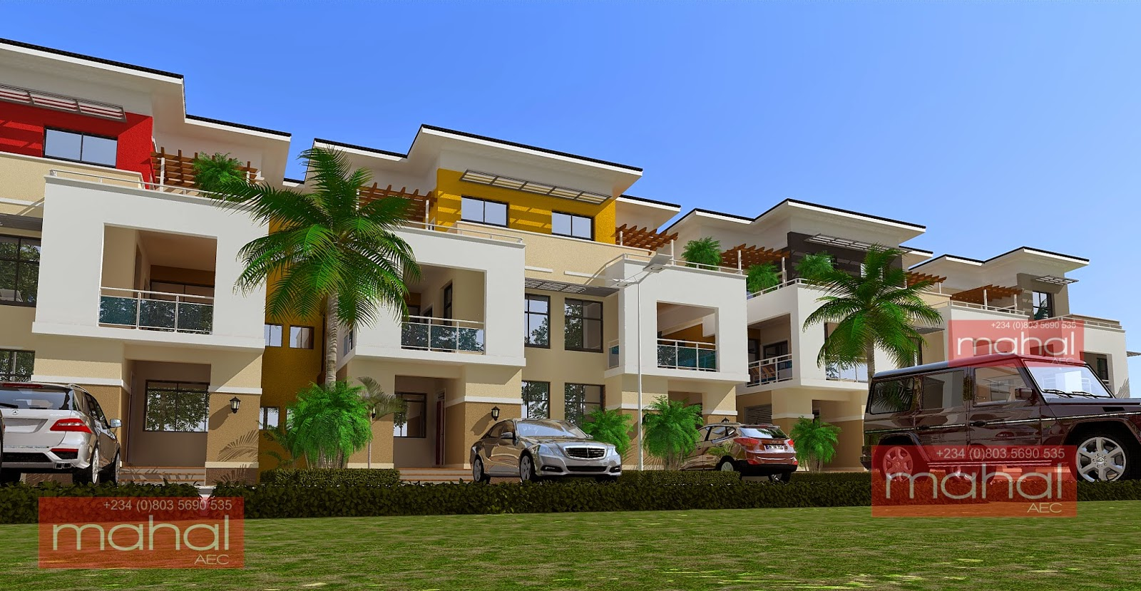 Contemporary nigerian residential architecture for Apartment design with terrace