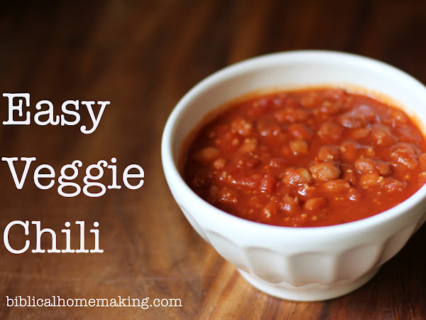 recipe: quick and easy veggie chili