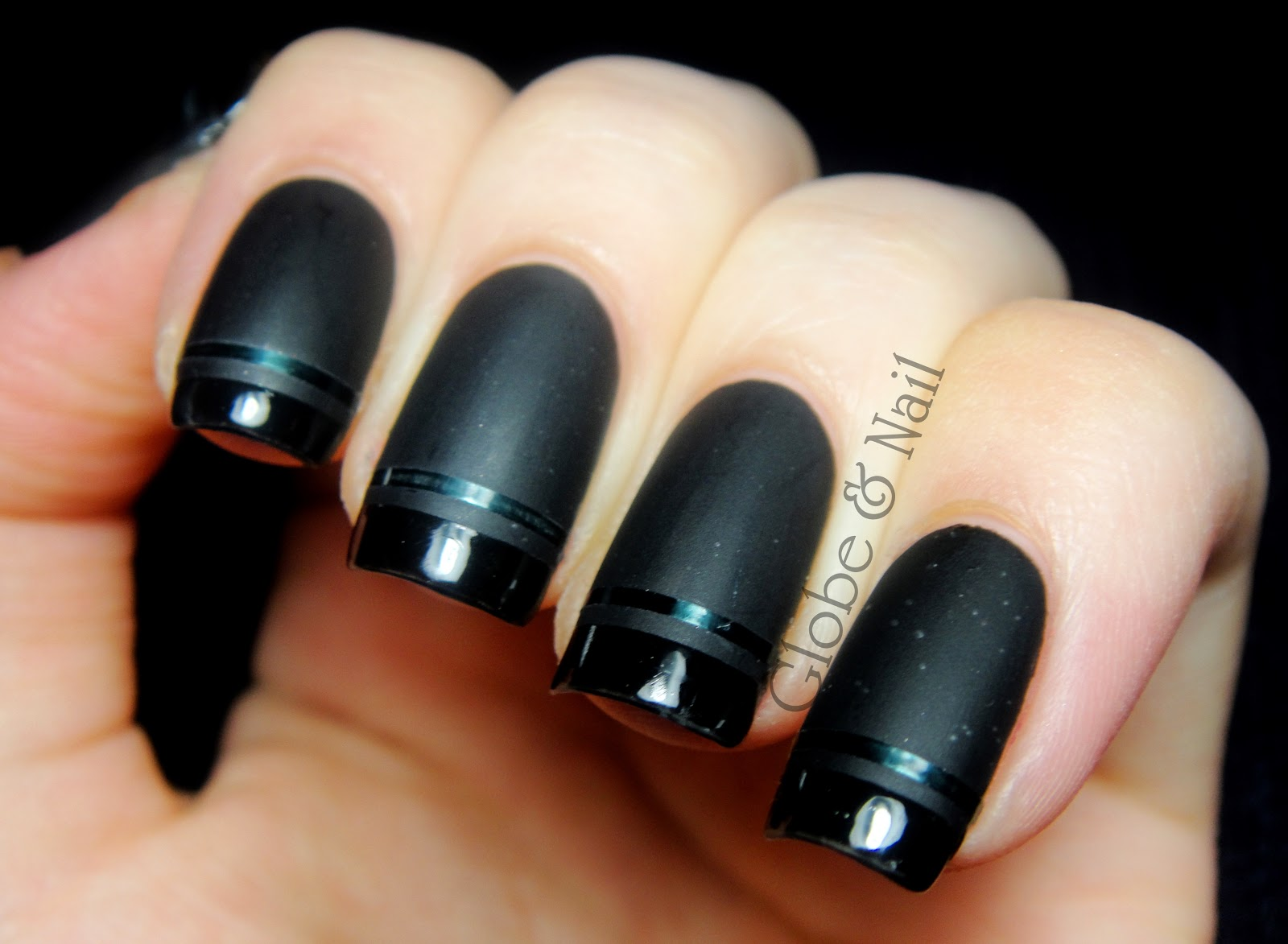 Black French Nails!