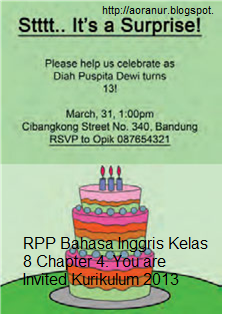 Rpp Bahasa Inggris Kelas 8 Chapter 4 You Are Invited