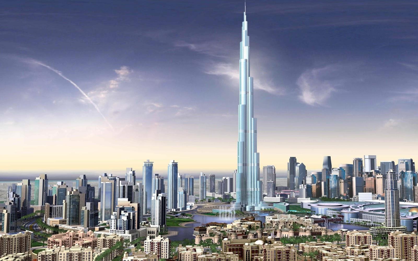 World Visits The Modern Advance City Dubai Wallpaper