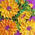 Pinturas de flores em camadas saltam literalmente da tela do artista