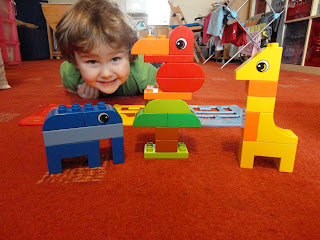 Big Boy and the Lego Duplo Creative Sorter Animals