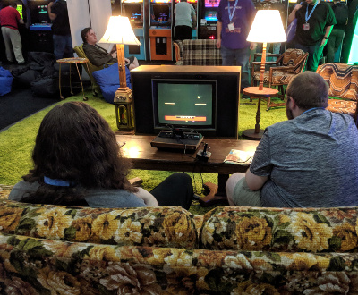 Portland Retro Game Expo Couch
