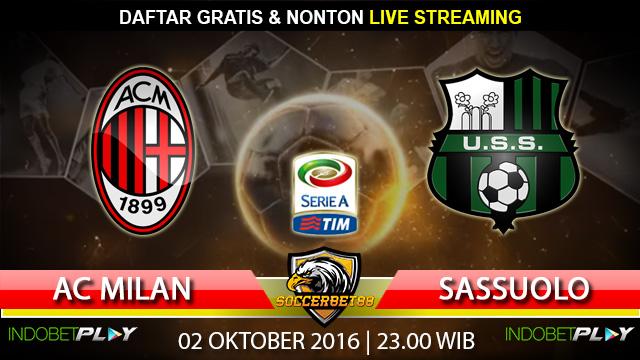 Prediksi AC Milan vs Sassuolo 02 Oktober 2016 (Liga Italia)