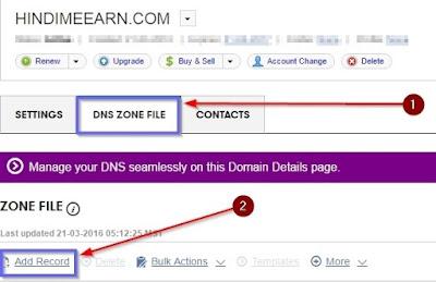 Dns Zone File Pe Click Kare
