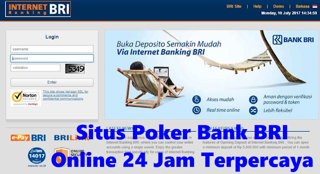Situs Poker Bank BRI Online 24 Jam Terpercaya