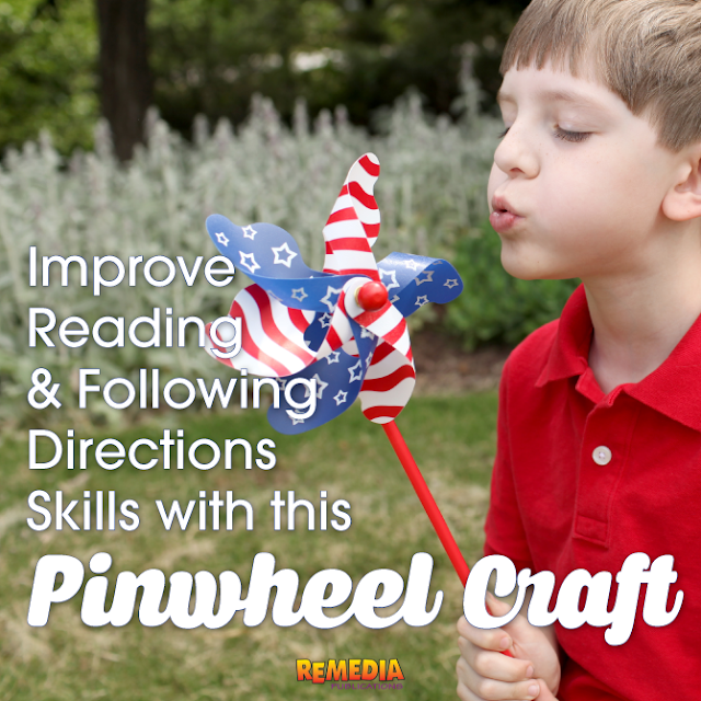 Patriotic Pinwheel Craft | Remedia Publications