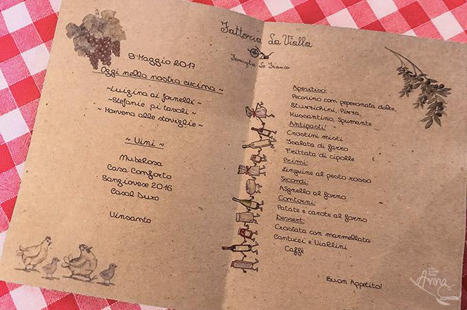 Menuekarte La Vialla