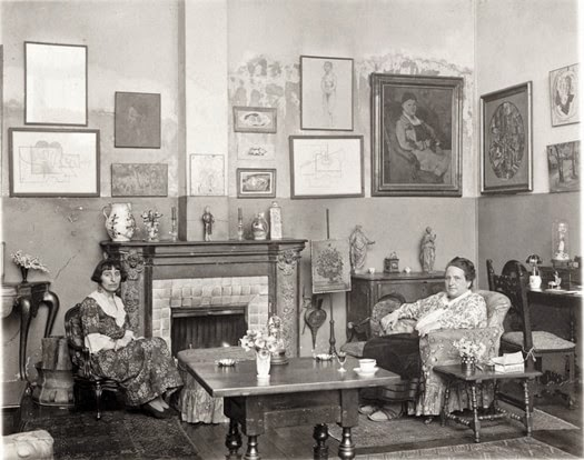 Man Ray, Portrait of Alice B. Toklas and Gertrude Stein, 1922