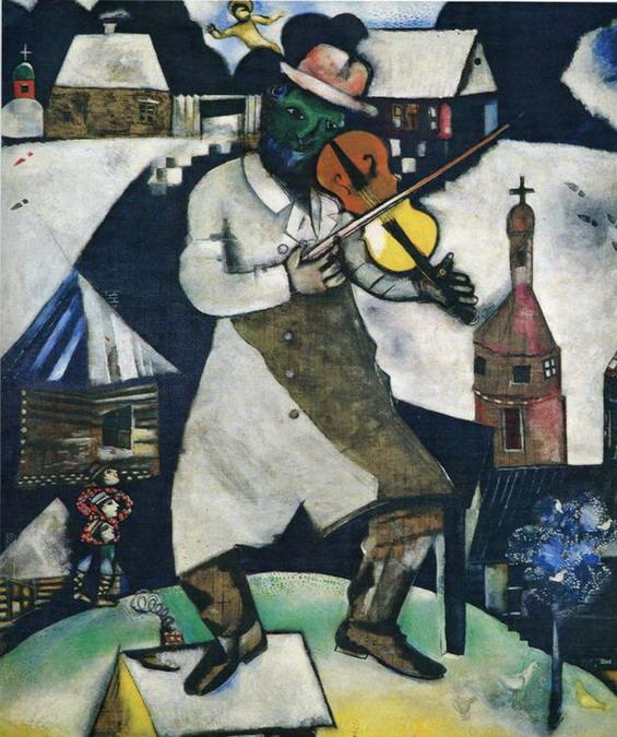 Pinturas de vanguardias el violinista marc chagall for Chagall tableau