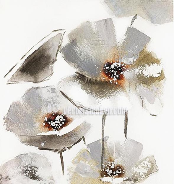 Tranh hoa.Trắng hoa nhài Ấn tượng vintage cổ điển Ấn tượng