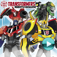"""Transformers: Robots in disguise - naciśnij play, aby otworzyć stronę z odcinkami serialu animowanego """"Transformers: Robots in disguise"""" (odcinki online za darmo)"""