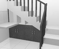 mebel semarang desain lemari bawah tangga
