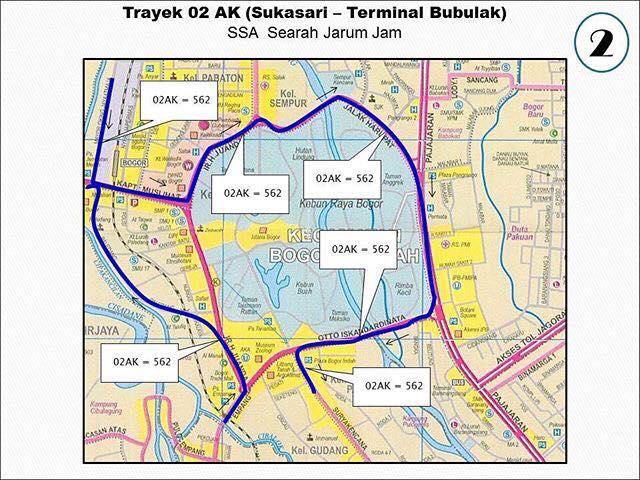 Rute Angkot Sukasari-Terminal Bubulak