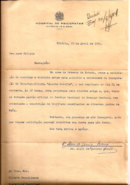 Projeto do Hospital-Colônia Adauto Botelho, em Cariacica, ID 517.