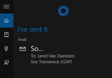 Cara mengkirim Email dengan Cortana Windows 10