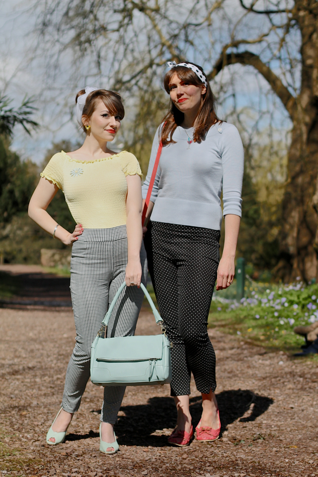 Lindy Bop Bethan trouser review - CiCi and Porcelina