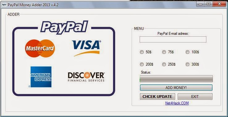 paypal money adder hack software free download