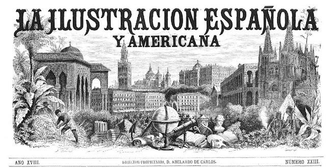 Cabecera del semanario La Ilustración Española y Americana
