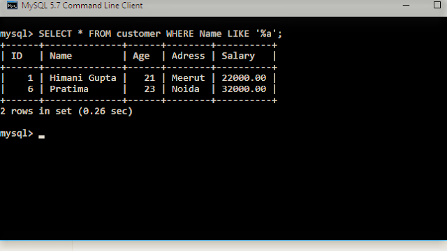 SELECT with LIKE in sql