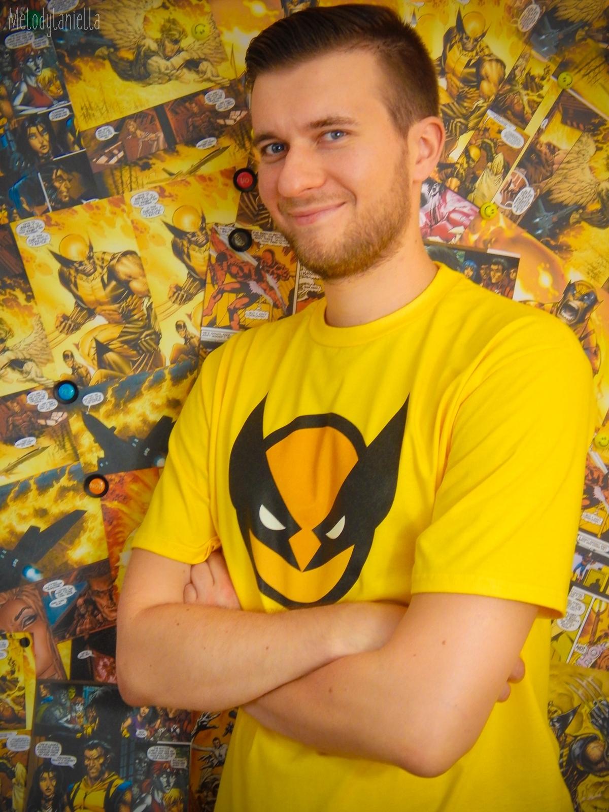 wolverine marvel komiksy koszulka tshirt koszulkowo prezent dla niego melodylaniella zolty tshirt stylowe ubrania dla geekow i fanow komiksow