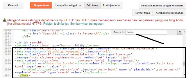 Gambar Cara Mendapatkan Sitelinks Search Box Blogger