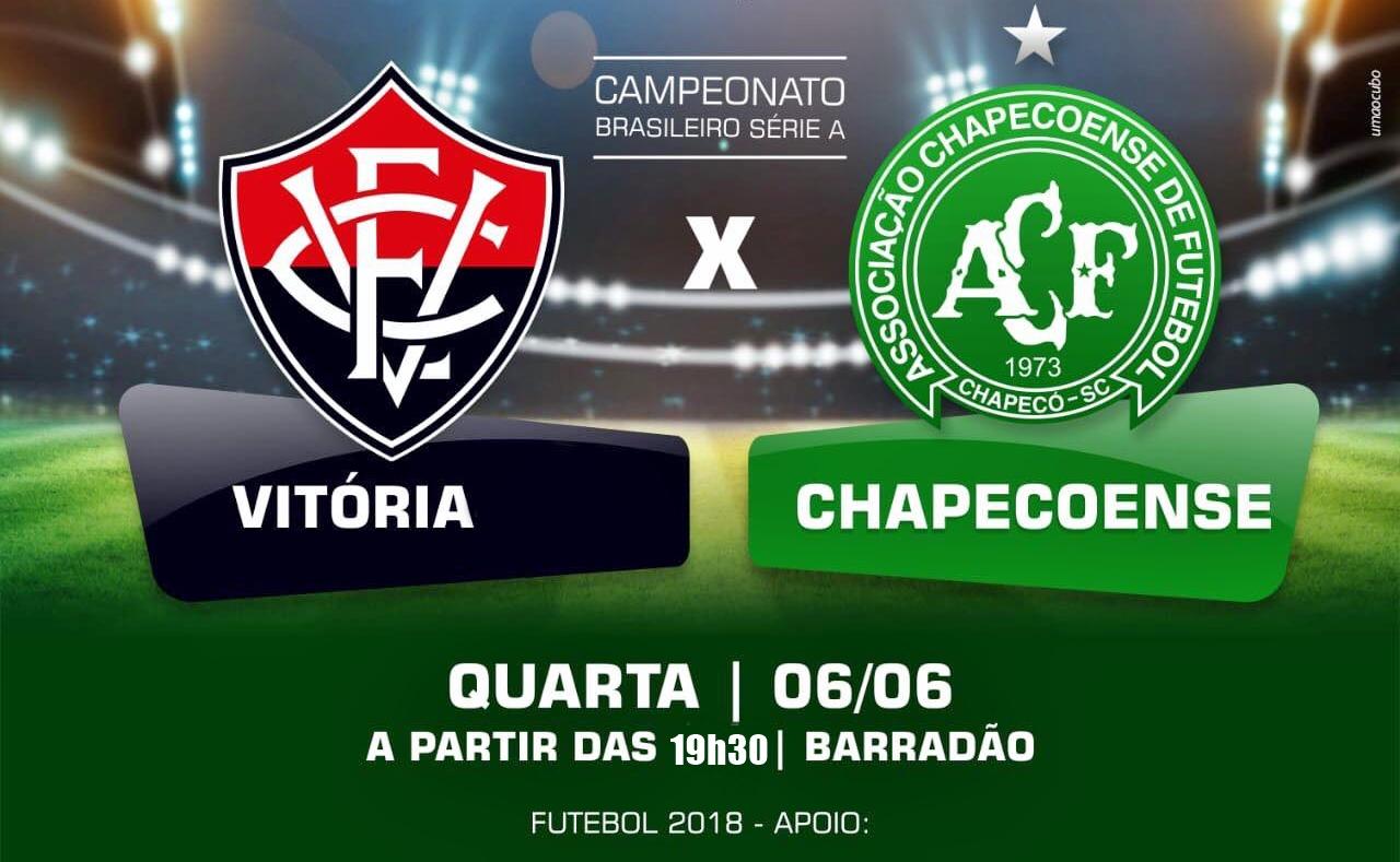 Vitória x Chapecoense ao vivo HD pelo Campeonato Brasileiro 06/06/2018 1