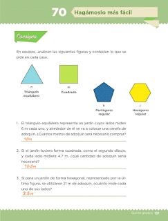 Respuestas Apoyo Primaria Desafíos Matemáticos 5to Grado Bloque IV Lección 70 Hagámoslo más fácil