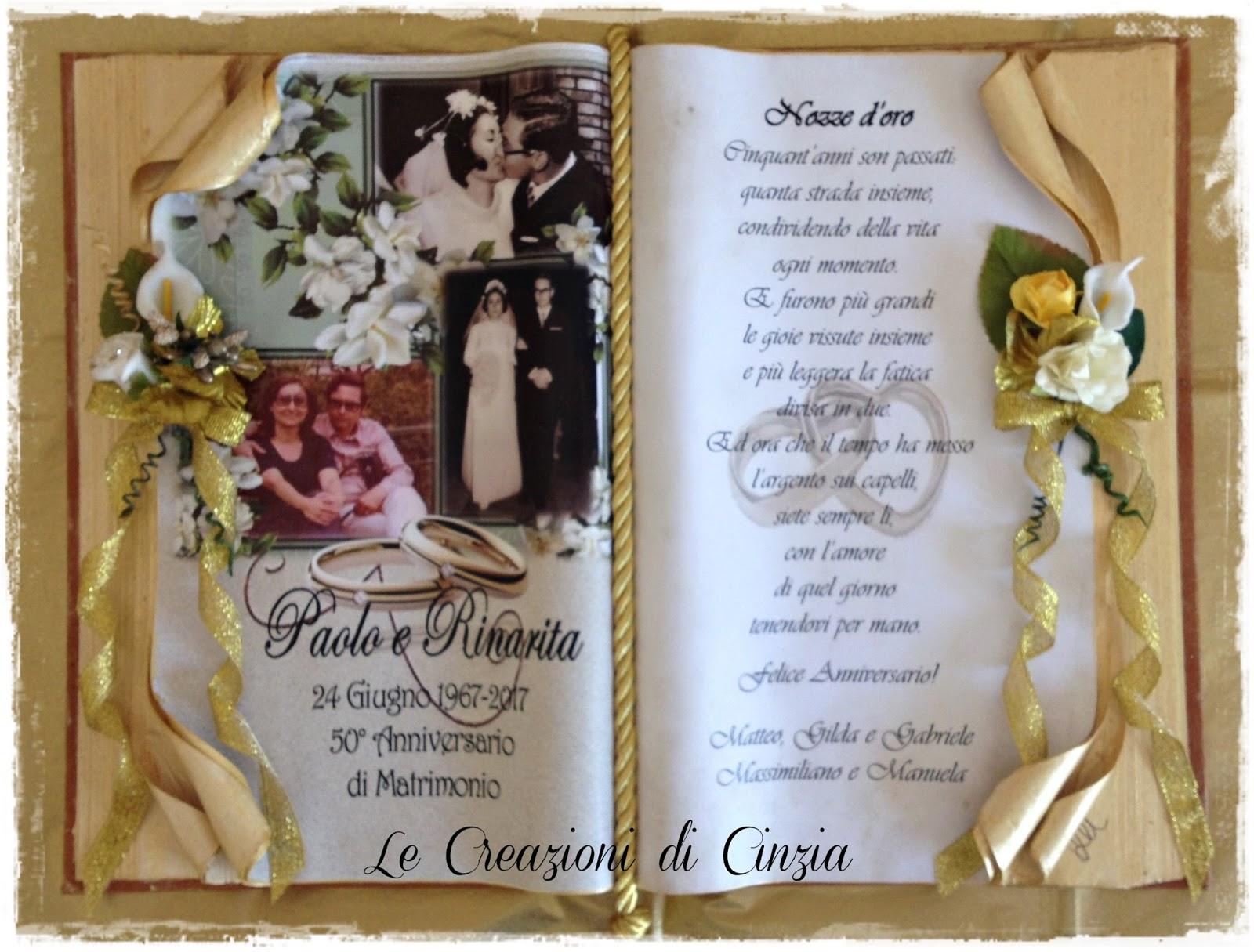 Anniversario Di Matrimonio 51 Anni.Le Creazioni Di Cinzia Anniversari Di Matrimonio